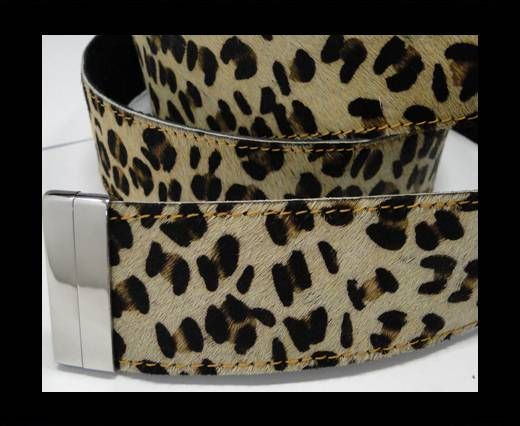 Hair-On Leather Belts-Leopard Small Spot-40mm