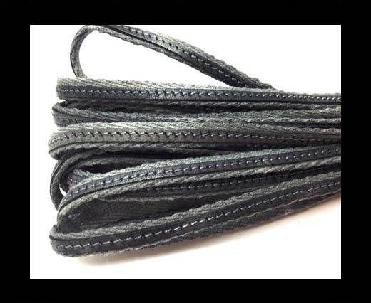 Italian Leather with Fabric - Grigio -10mm