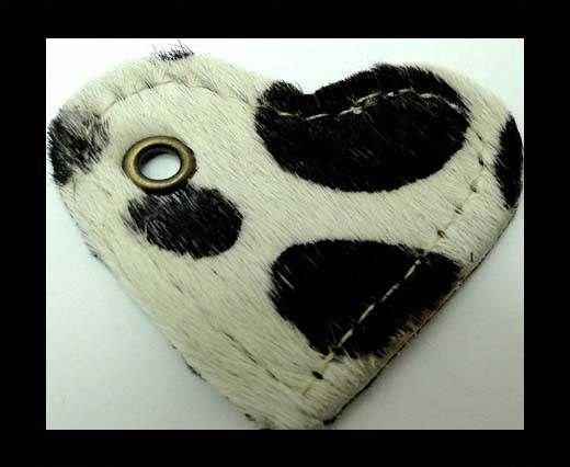 KC-Key Cord Heart Shape 4cm Cow