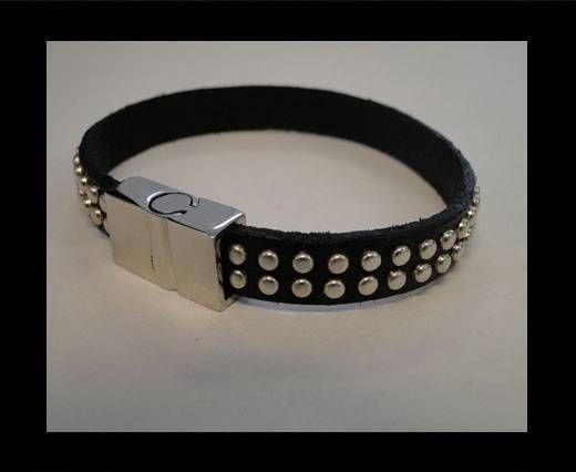 Unisex Leather Bracelet MLBSS-2