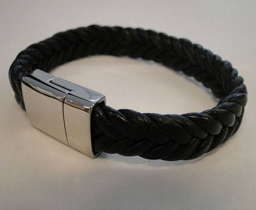 Unisex Leather Bracelet MLBSS-3