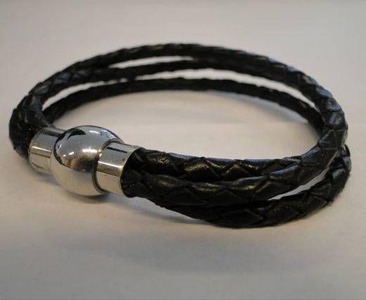 Leather Bracelets MLBSS-4