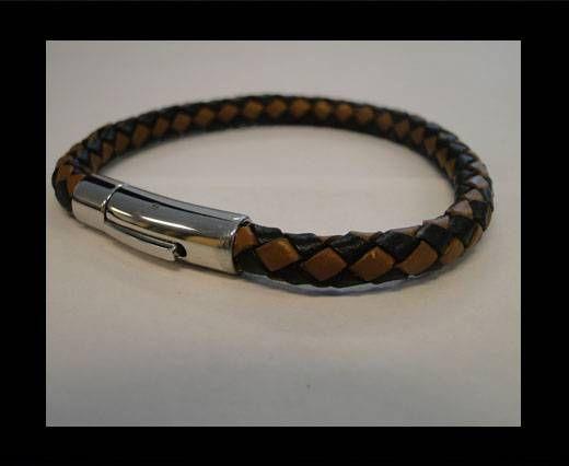 Unisex Leather Bracelet MLBSS-15