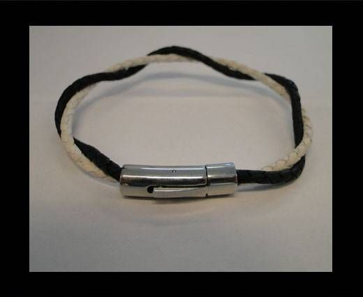Unisex Leather Bracelet MLBSS-18
