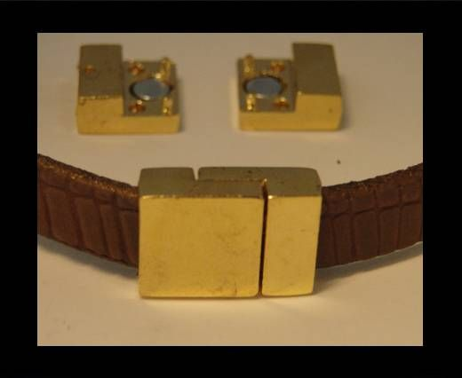 Locks for leather/Cords-ZAML-07-10*3mm-Gold