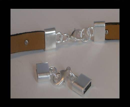Locks for leather/Cords ZAML-03 - 10X3mm Steel Finish