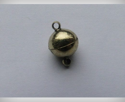 Magnetic Lock - Antique Gold - 10mm