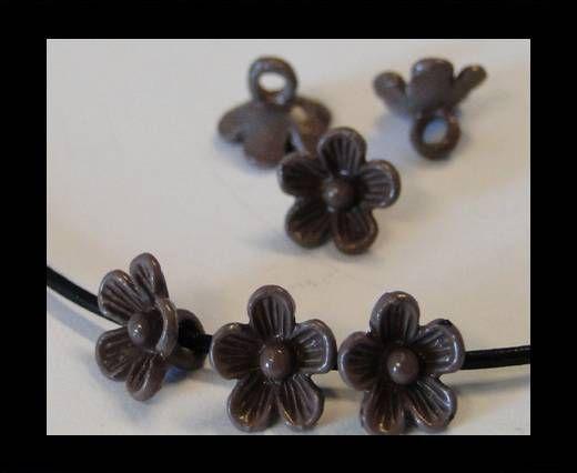 Metal Beads-Flower-Brown-8mm