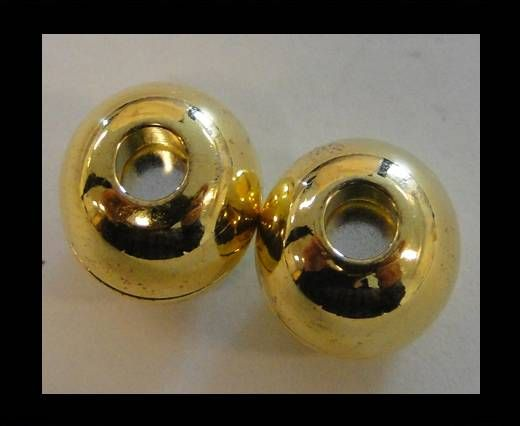 Magnetic Locks for leather Cords - MGL-5-2mm-Gold