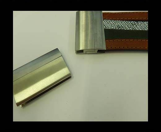 Stainless Steel Magnetic Clasp,Matt,MGST-111-40*3.5mm