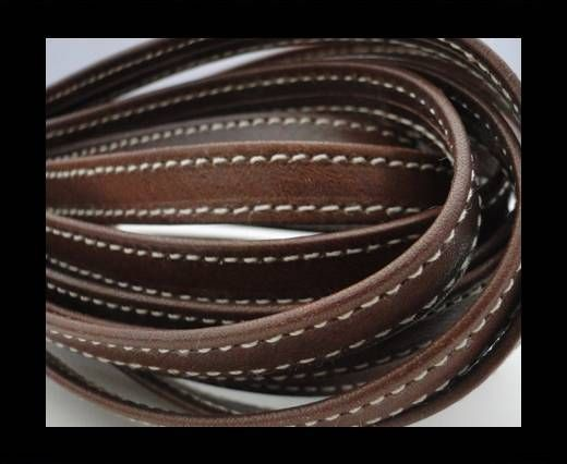 Nappa Leather Flat-Stiched Brown-10mm