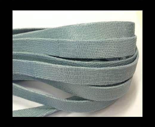 Nappa Leather Flat -10mm-Lizard Light Blue