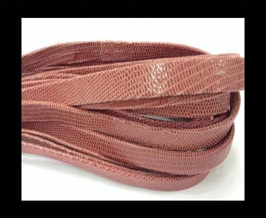 Nappa Leather Flat -10mm-Lizard Rose Paill Transp