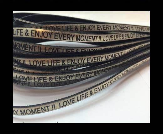 Love life & enjoy every moment - 5mm - Metallic Gold