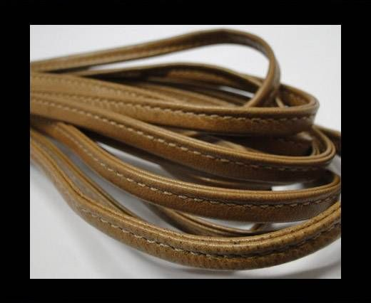 Real nappa leather stitched - 5mm - Beige