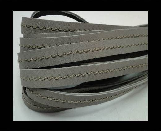 Real Nappa Leather with stitch in the middle-10mm-Light Taupe