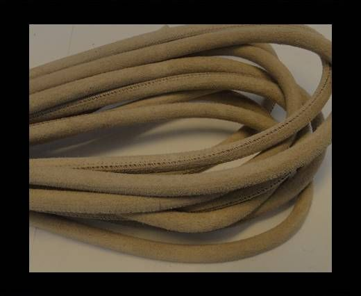 Real Nappa Suede Round-Natural-6mm