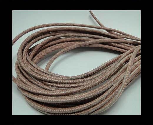 Real Round Nappa Leather cords - Lizard Prints-Salmon Lizard- 2.