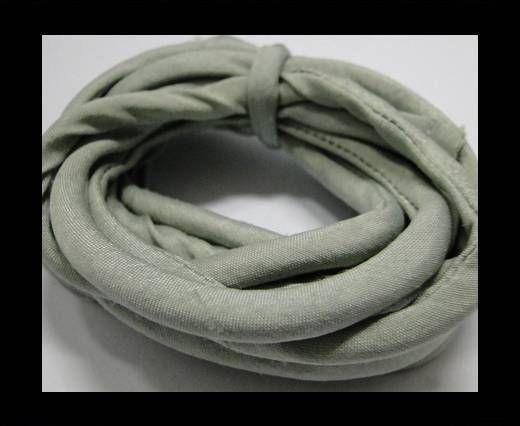 Cordones de seda rellenos de algodón - 4mm - Niebla