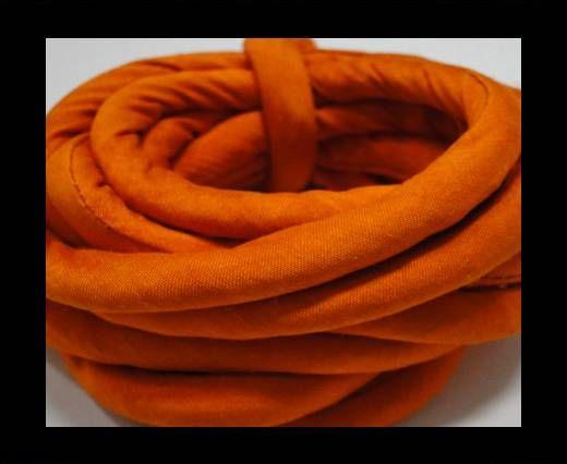 Cordones de seda rellenos de algodón - 8mm - Azafrán