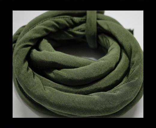 Cordones de seda rellenos de algodón - 8mm - Verde Savia