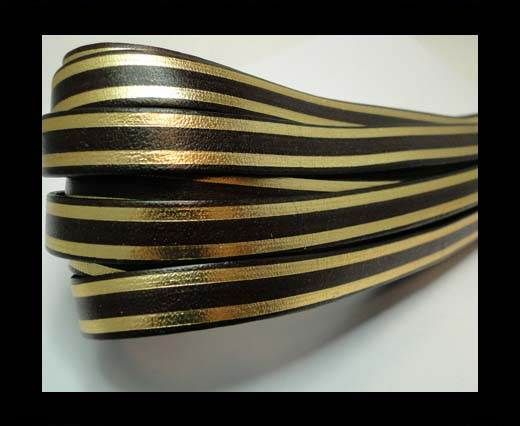 RFL-10MM with stripes on both sides-Brown with golden