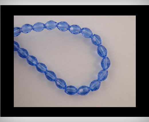 Rice Glass Beads -4mm*6mm-Saphire