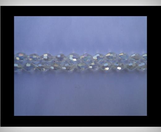 Rice Glass Beads - 4mm*6mm- Crystal AB