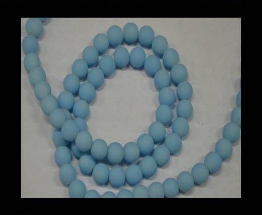 Round Glass beads 8mm - Neon Light Blue