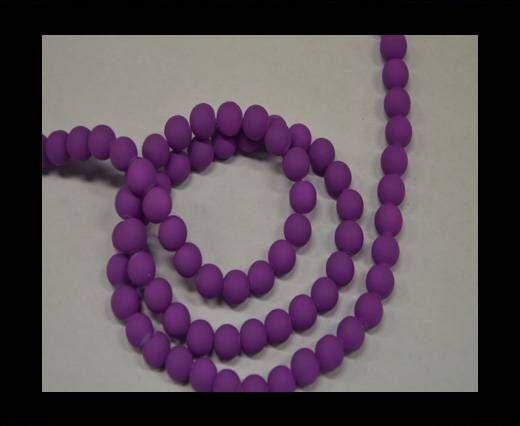 Round Glass beads 8mm - Neon Purple