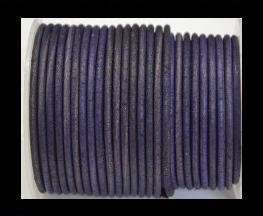 Round Leather Cord 4mm- Vintage Purple