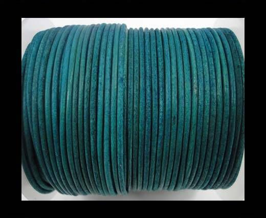 Round Leather Cord-1,5mm-vintage turquoise