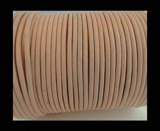 Round Leather Cord -1mm- SE R Peach