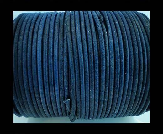 Round Leather Cord -1mm- SE R Vintage Blue