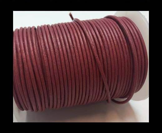 Round Leather Cord  - Fuchsia - 1mm