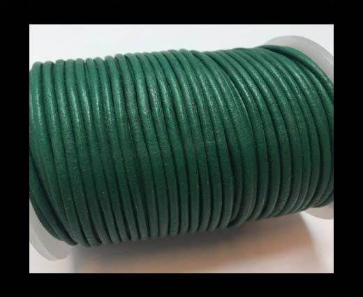 Round Leather Cord -1mm - SE R 22 Green