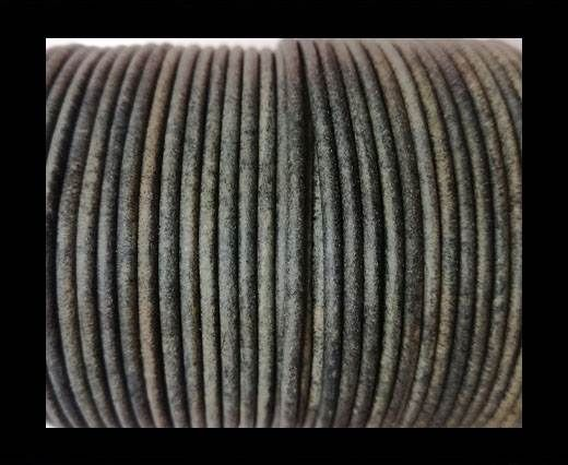 Round leather cord-2mm-vintage grey