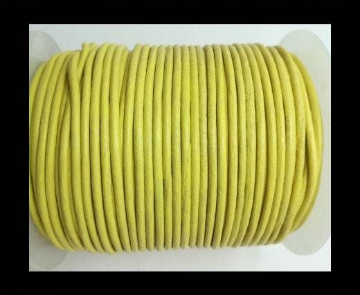 Round Leather Cord-1,5mm-plain-CANARY