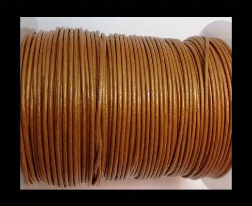 Round Leather Cord -1mm- METALLIC CINNAMON