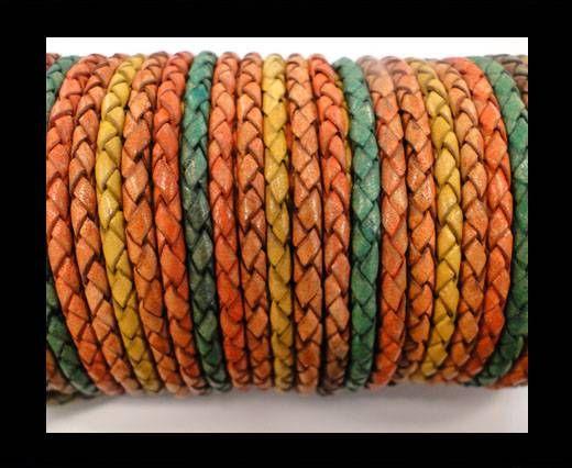 Round Braided Leather Cord SE/DM/06-Sun-8mm