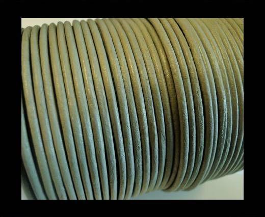 Round Leather Cord SE/R/Light Grey-2mm