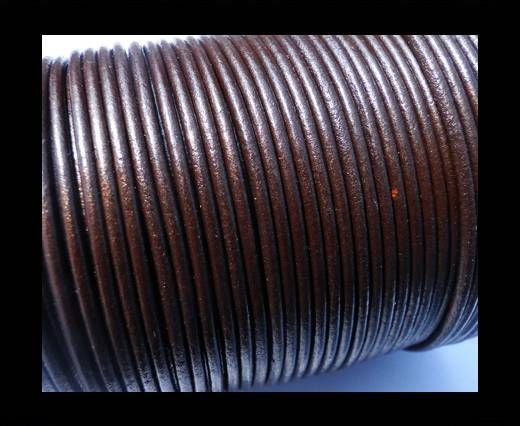 Round Leather Cord SE/R/Tamba - 3mm