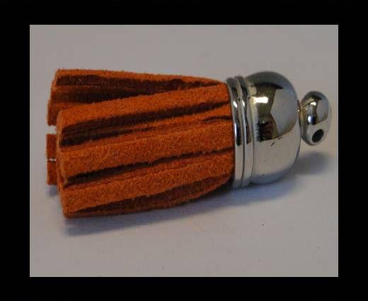 Tussels-Suede-Silver Caps-Orange-30mm