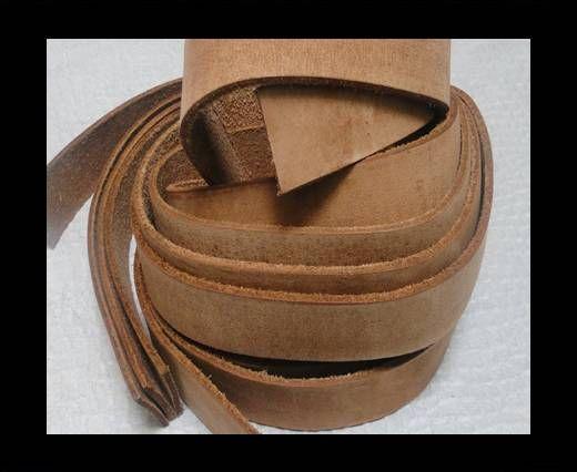 Vintage Style Flat Leather - 14mm-Vintage Light Brown