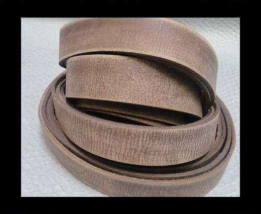 Vintage Style Flat Leather - 14mm-Tiger Vintage Taupe