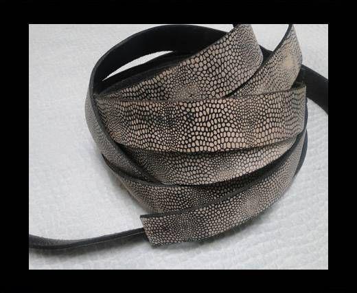 Vintage Style Flat Leather - 14mm-Booty Vintage Black