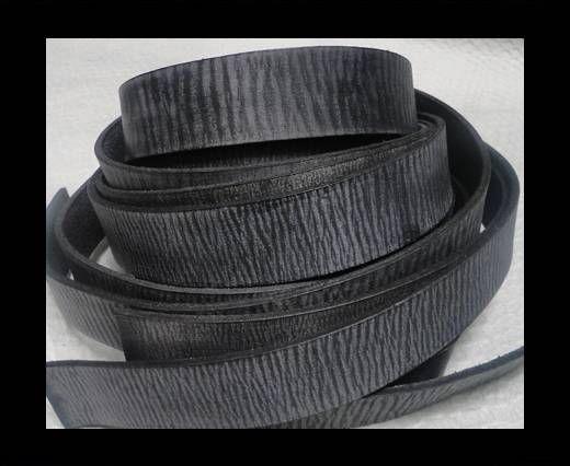 Vintage Style Flat Leather - 14mm-Vintage Black