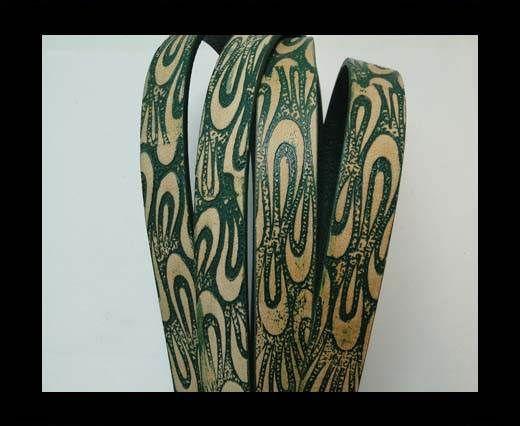 Vintage Style Flat Leather - 14mm-colour 17
