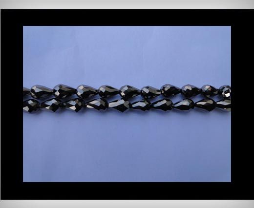 Water Glass Beads -8mm*11mm-Metallic Black