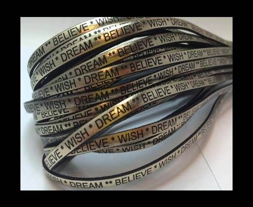 Wish Dream Believe - 5mm - Metallic Gold